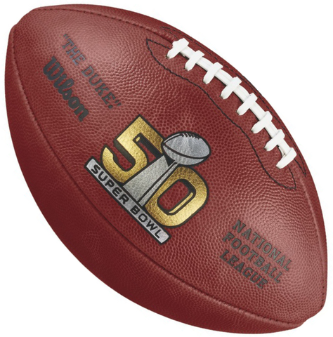 Super Bowl 50 Football Broncos vs Panthers