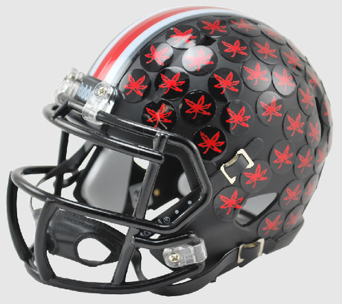 Ohio State Buckeyes NCAA Mini Speed Football Helmet <B>Satin Black Discontinued</B>