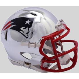 New England Patriots NFL Mini Chrome Speed Football Helmet NEW 2018