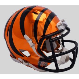 Cincinnati Bengals Mini Chrome Speed Football Helmet