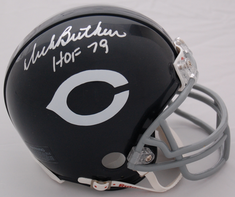 Dick Butkus Chicago Bears Autographed Mini Helmet
