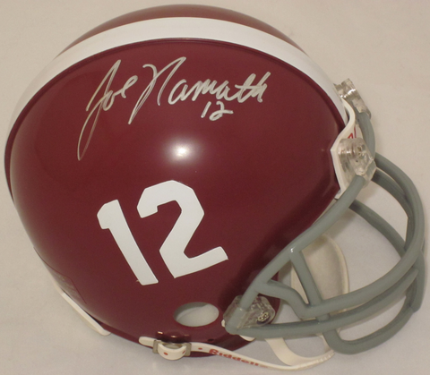 Joe Namath Alabama Crimson Crimson Tide Autographed Mini Helmet