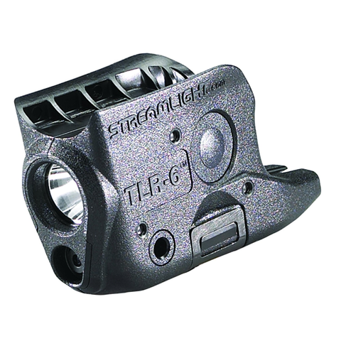 TLR-6 GLOCK 26-27 with white LED and red laser. Black