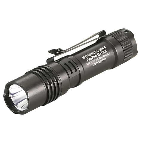 ProTac 1L-1AA Tactical Flashlight, Black