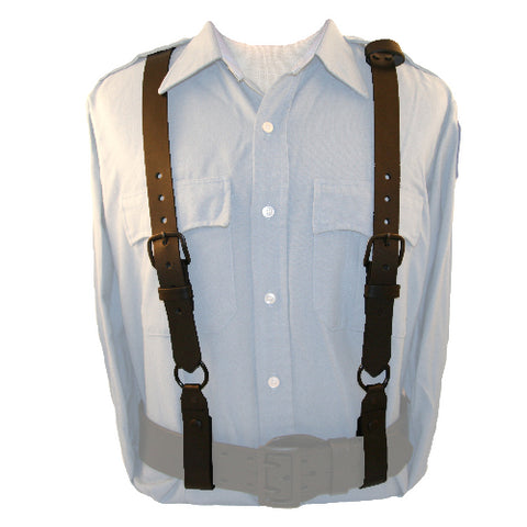 POLICEMAN LEATHER SUSPENDERS B