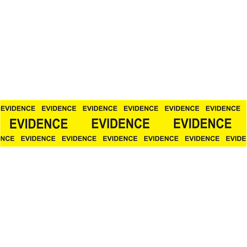 "Sirchie - Box Sealing Evidence Tape, yellow printed Black ""Evidence"", 2"" x 165'"