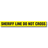 "Sirchie - Barrier Tape: 3"" x 1000' SHERIFF LINE- DO NOT CROSS"