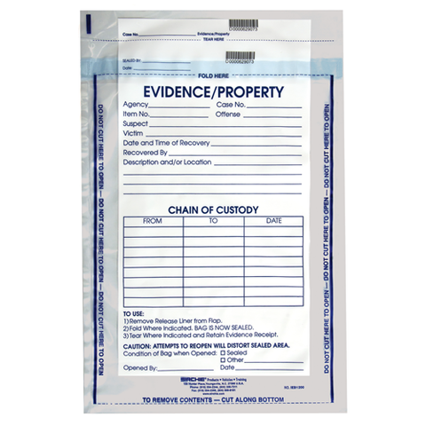 "Sirchie - Integrity Evidence Bags, 12"" x 15.5""  100-pack"