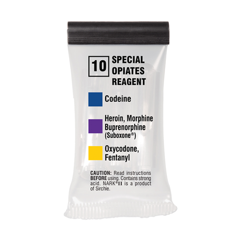 Sirchie - NARKII™ Test 10-Special Opiates Reagent (Mecke)- Box of 10