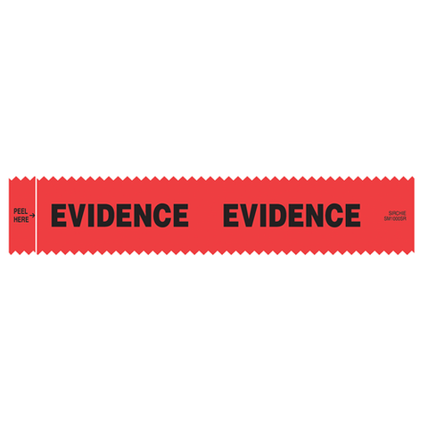 "Sirchie - SIRCHMARK™ Evidence Integrity Strips Red w- Black ""Evidence"" 1-3-8"" x 7""  100-box"