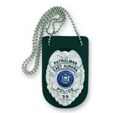 BADGE HOLDER FOR NECK W-CHAIN