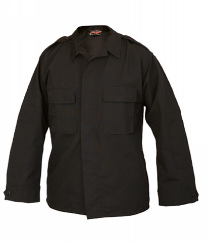 Tru-Spec Long-Sleeve Tactical Shirt Poly-Cotton Twill Dark Navy L-Long