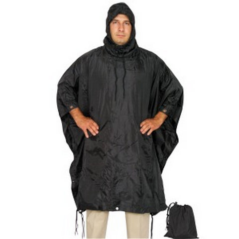 Black Military Ponchos Nylon