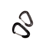 5IVE STAR-CARABINERS, 2-PACK WIREGATE, BLK-GREY