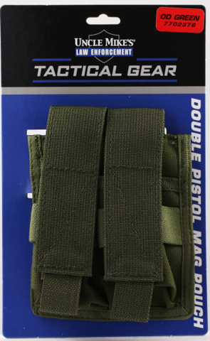 UNCLE MIKE'S TACTICAL - DOUBLE PISTOL MAG POUCH