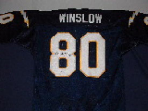 Kellen Winslow San Diego Chargers Autographed Jersey