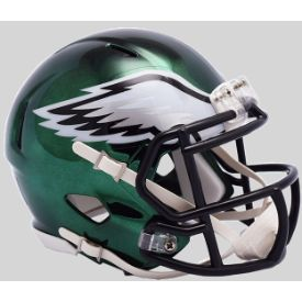 Philadelphia Eagles Mini Chrome Speed Football Helmet