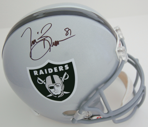Tim Brown Oakland Raiders Autographed Full Size Replica Helmet