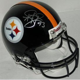 Troy Polamalu Autographed Pittsburgh Steelers Full Size Speed Authentic Helmet