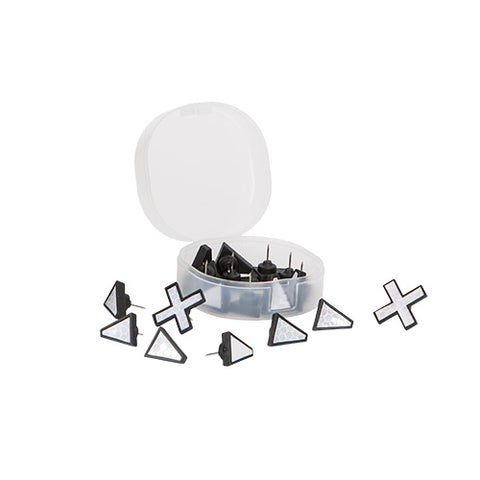 X Marks The Spot Trail Tacks White, 20Pk