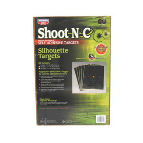"SO-5 Shoot-N-C 12""x18"" Silh 5 Pk"