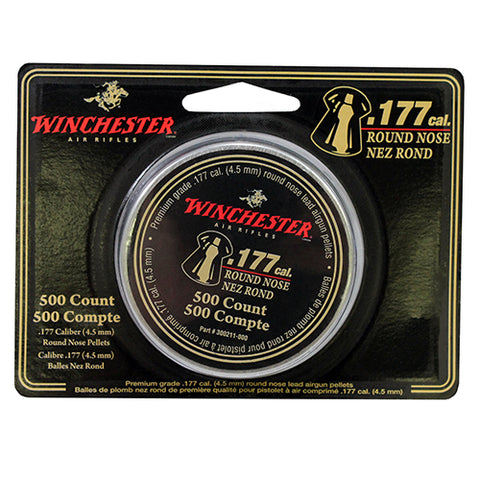 .177 Cal. Round Nose Pellets - 500 Tin