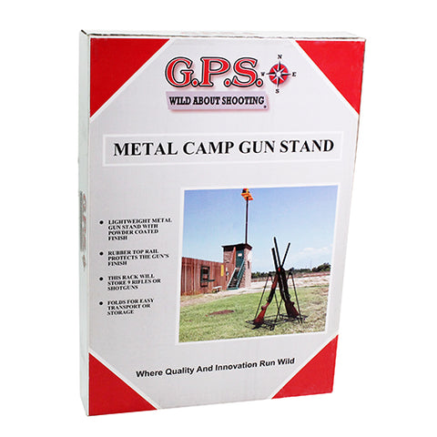 Metal Camp Gun Stand,rubber coated 9 gun