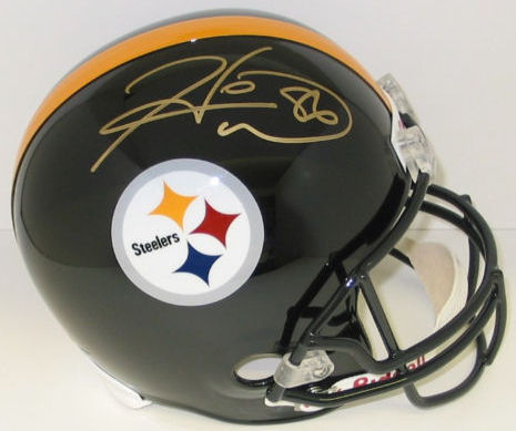 Hines Ward Pittsburgh Steelers Autographed Full Size Authentic Helmet