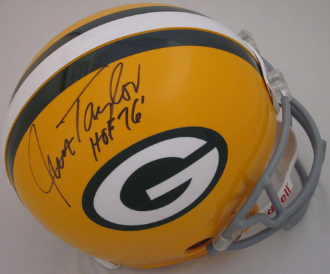 Jim Taylor Green Bay Packers Autographed Full Size Authentic Helmet