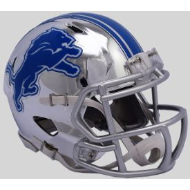 Detroit Lions NFL Mini Chrome Speed Football Helmet