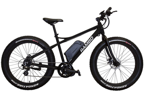 Rambo Motorized Bike Fat Tire Matte Black