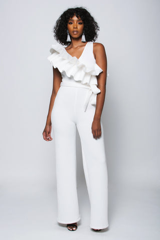 Estelle Jumpsuit (White)