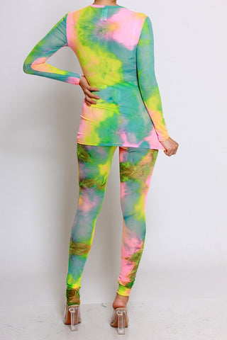 Unicorn Tie Dye Pant Set