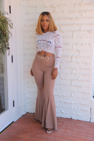 Debbie Highwaist Pants(Nude)
