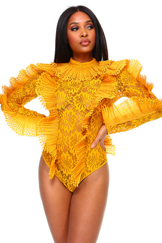 Bey Bodysuit Mustard - Plus