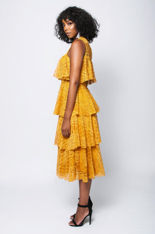 Layer Me Dress ( mustard)