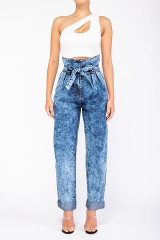 Bucket High Waist Jeans (Dark Wash)