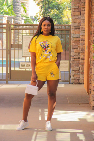 Mickey Shorts Set (yellow)