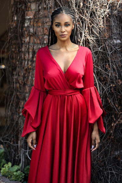 Glam Goddess Dress(Red)