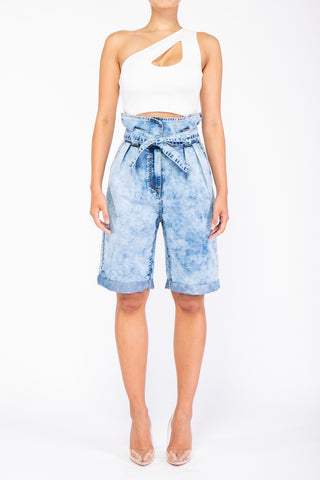 Bucket High Waist Denim Short