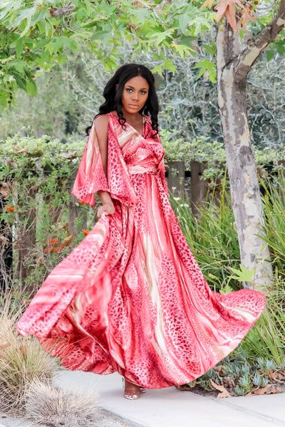 Tigress Maxi Dress(Raspberry)