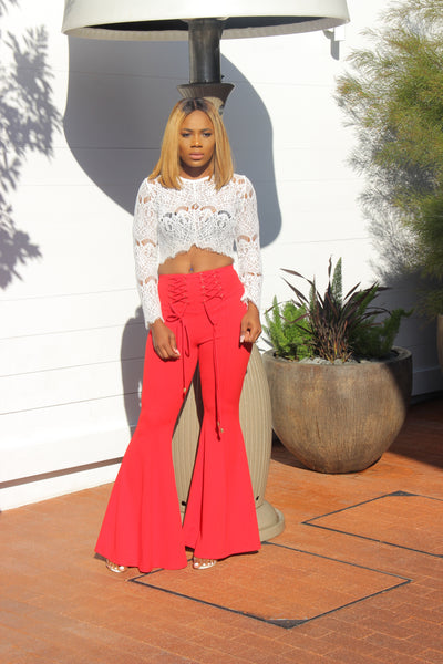 Rese Highwaist Pants (Red)