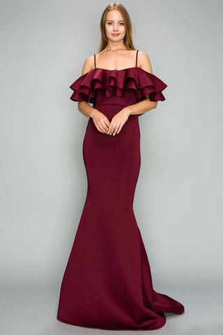 Mermaid Gown (Burgundy)