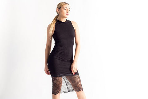 Debbie  Black Lace Dress