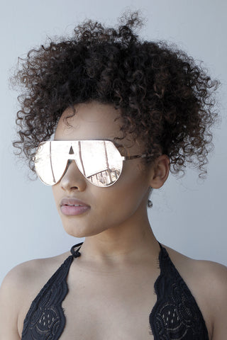 No Shade Sunglasses ( ROSE GOLD)
