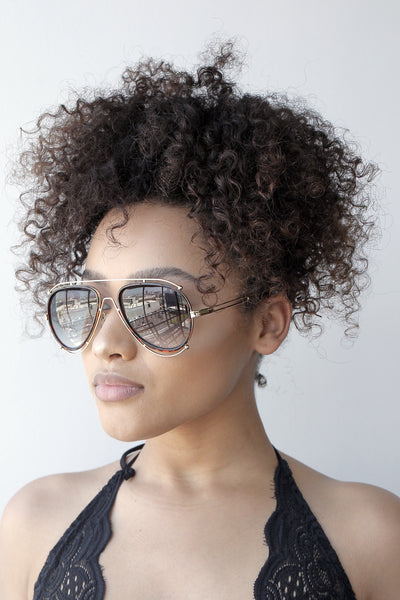 A lot Extra Sunglasses (BLACK/BROWN)