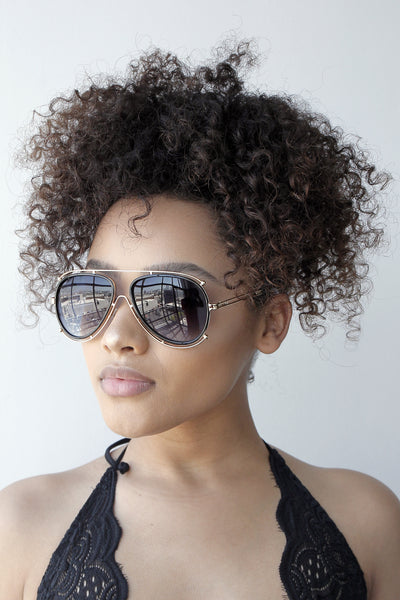 A lot Extra Sunglasses (BLACK/GOLD FRAMES)
