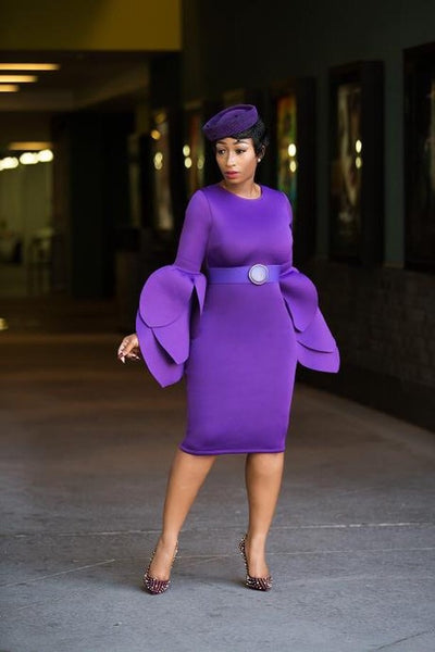 Lucy Midi Dress (Purple)