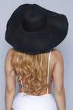 Black Wide Sun Hat