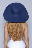 Blue Wide Sun Hat
